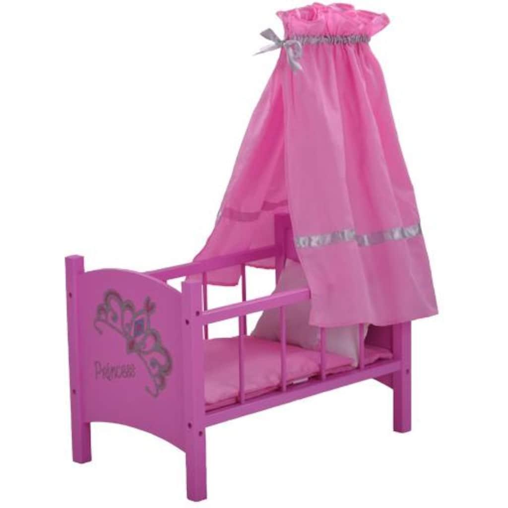 Knorrtoys® Puppenbett »diadem pink«