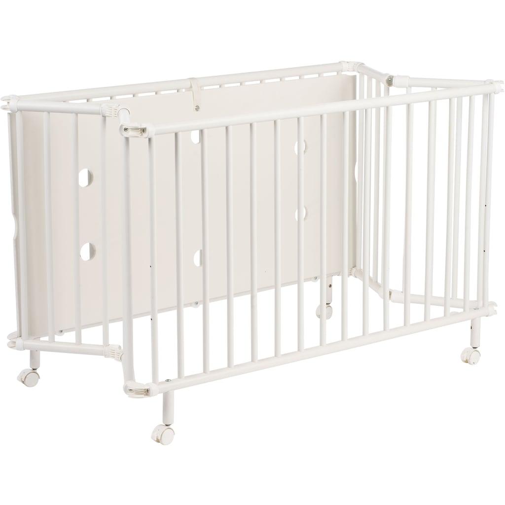 Geuther Babybett »Mayla, weiß«, platzsparend zusammenklappbar; Made in Europe