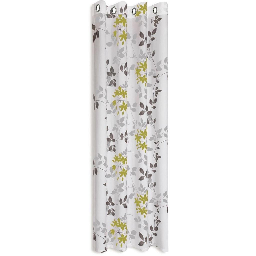 Gerster Vorhang »Bina«, HxB: 235x140, Ösenschal mit Ausbrenner Blumendesign