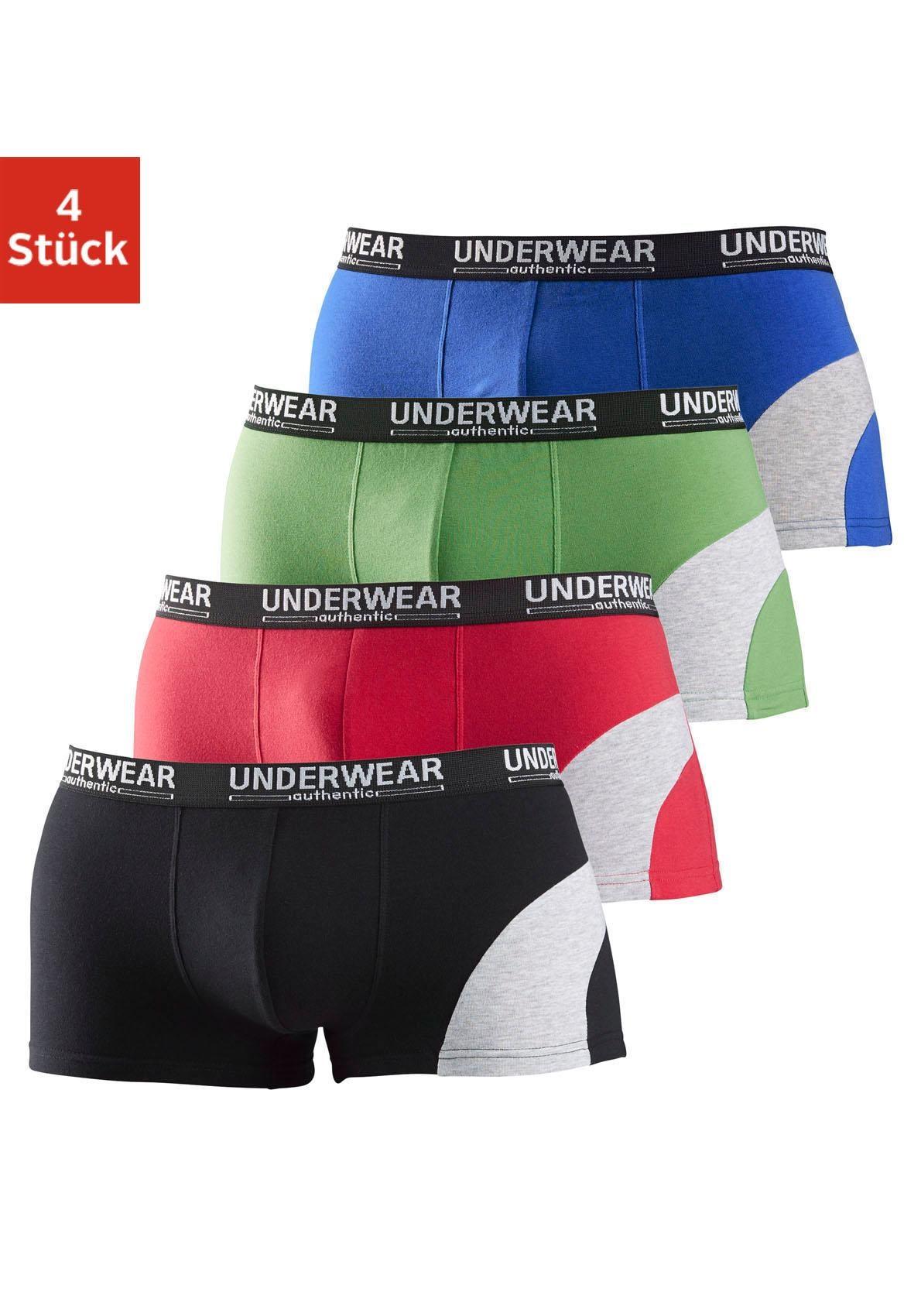 AUTHENTIC UNDERWEAR Hipster (4 Stück) | Bekleidung > Wäsche > Hipster | Blau | Authentic Underwear