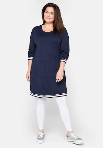 Sheego Sweatkleid, mit rundem Ausschnitt und Kängurutasche kaufen