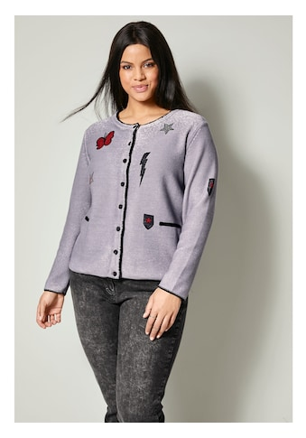 Sara Lindholm by HAPPYsize Strickjacke aus reiner Baumwolle kaufen