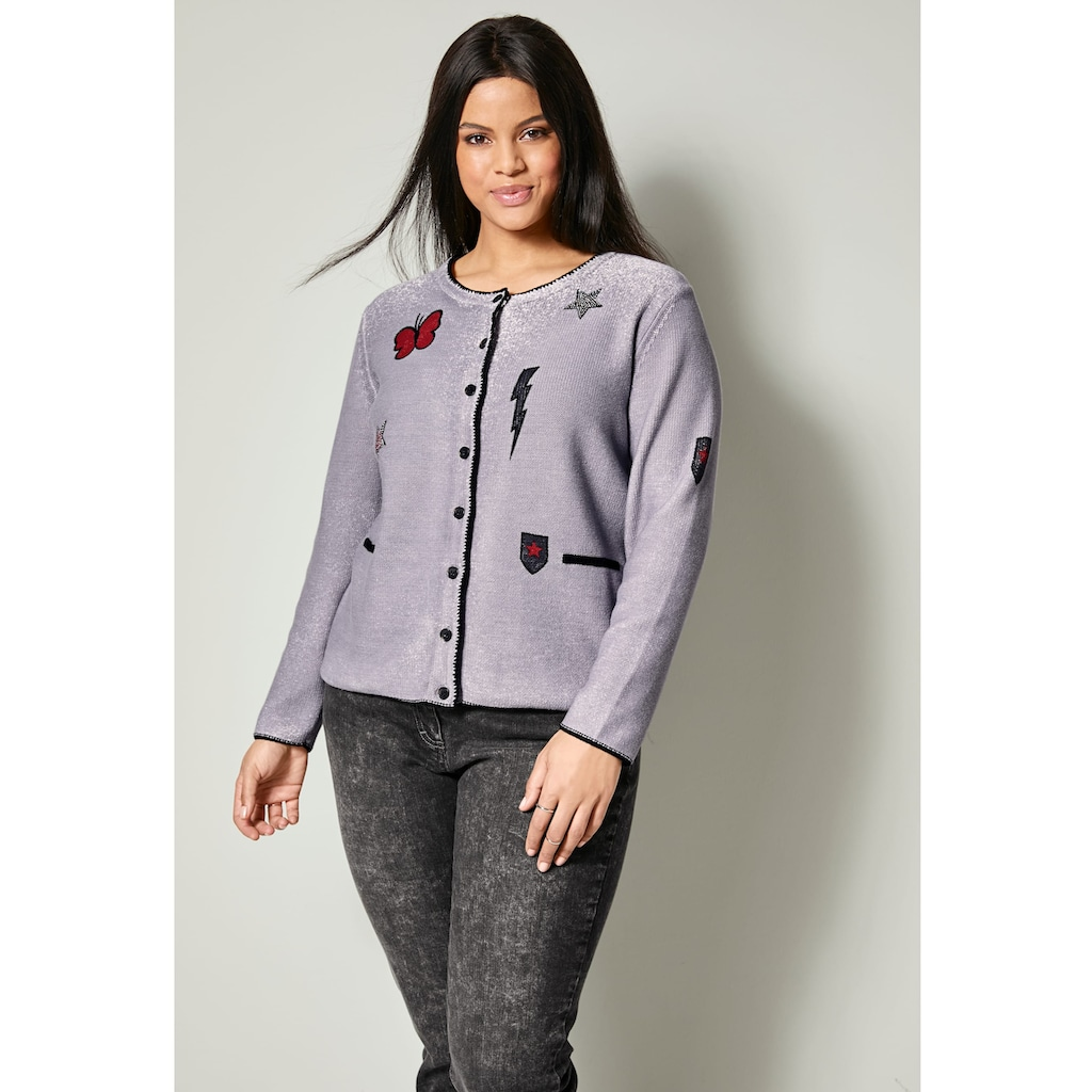 Sara Lindholm by HAPPYsize Strickjacke aus reiner Baumwolle