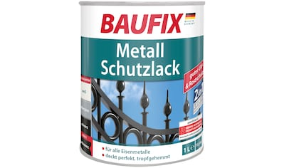 Baufix Metallschutzlack »Schwarz«, 1 Liter, schwarz kaufen