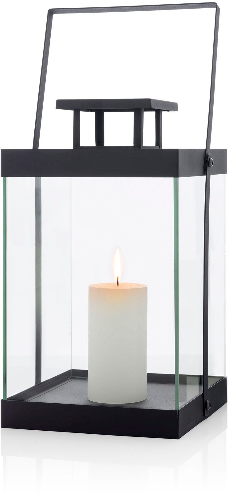 BLOMUS Kerzenlaterne Laterne -FINCA- mittel - black schwarz Kerzenhalter Kerzen Laternen Wohnaccessoires