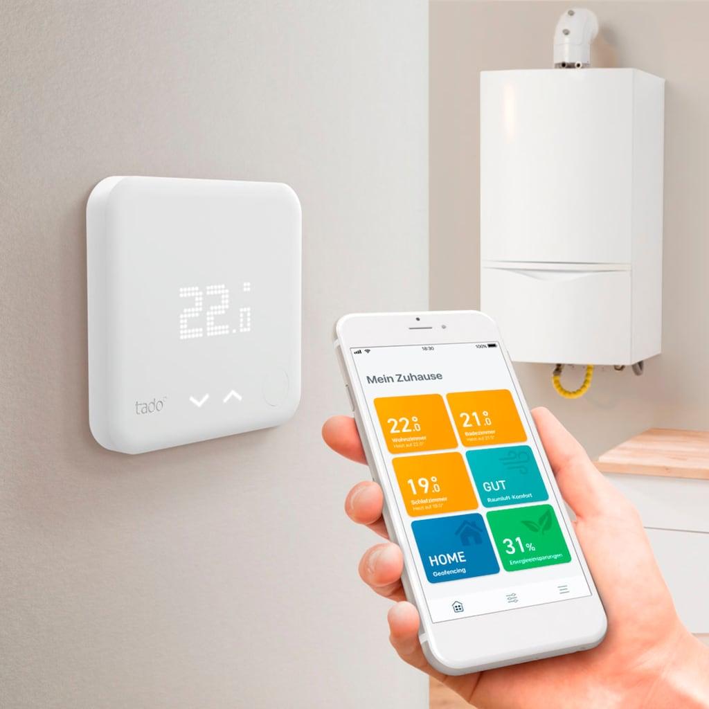 Tado Smartes Heizkörperthermostat »Smartes Heizkörperthermostat Smart Thermostat - Starter Kit V3+ inkl. 1 Bridge«