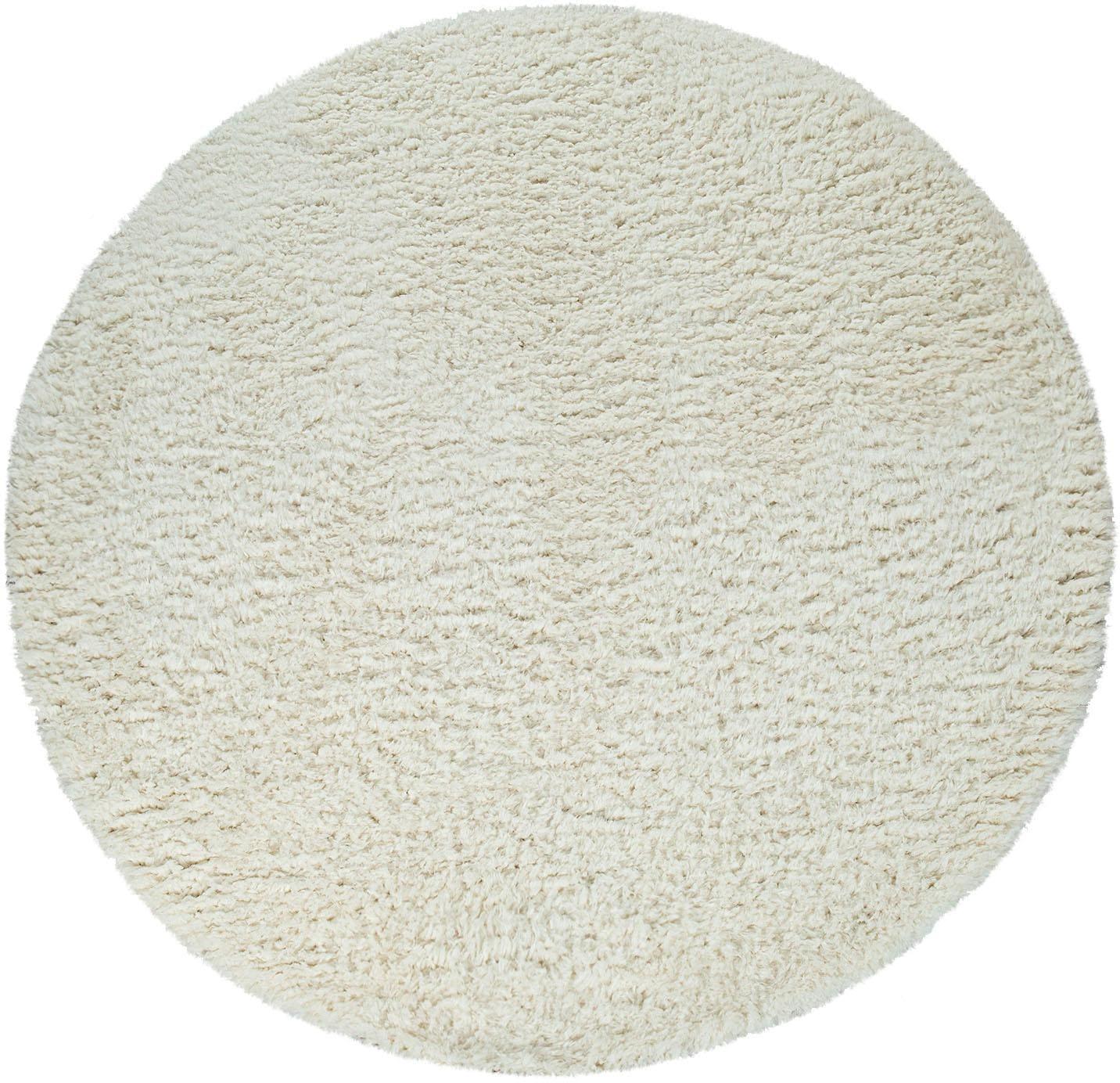 Hochflor-Teppich Punto 400 Paco Home rund Höhe 50 mm