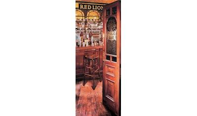 Papermoon Fototapete »Red Lion Pub - Türtapete«, matt, Vlies, 2 Bahnen, 90 x 200 cm kaufen