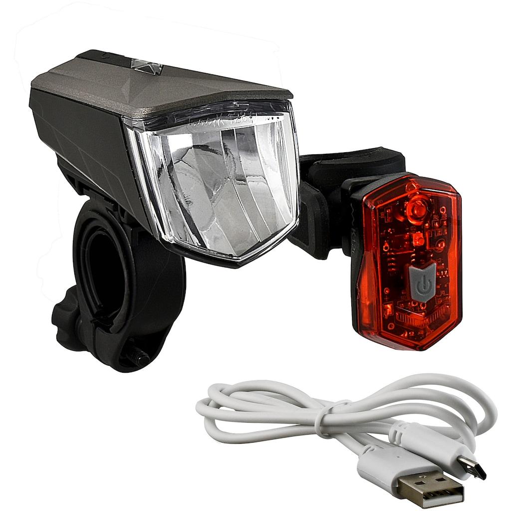 Büchel Fahrradbeleuchtung »Vail + Micro Light«, (Set, 5, Front- und Rücklicht)
