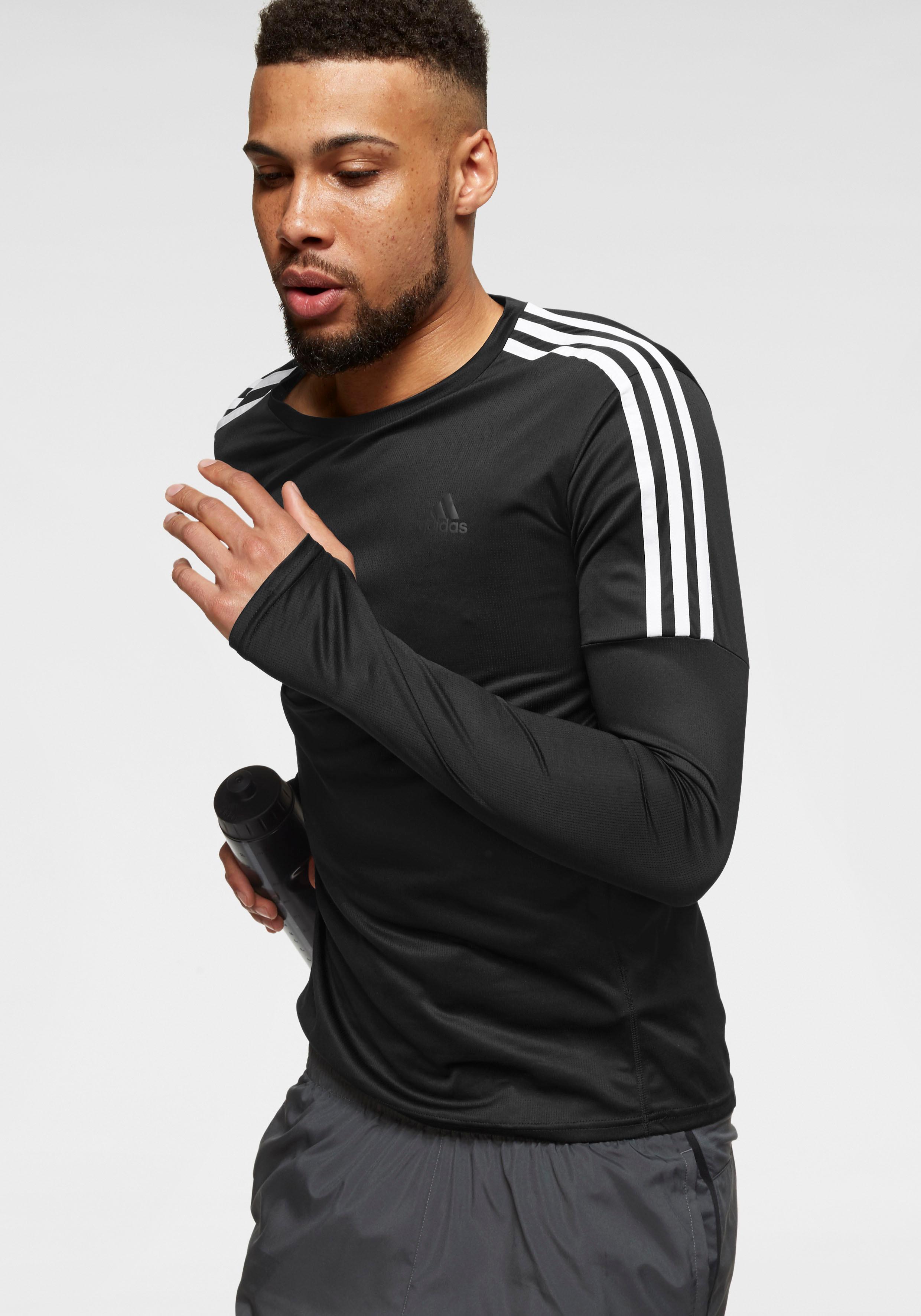 adidas Performance Laufshirt RUN 3 STRIPES LONG SLEEVE | Sportbekleidung > Sportshirts | adidas performance