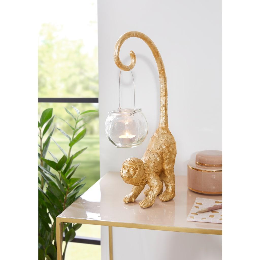 Leonique Dekofigur »Affe mit Windlicht«