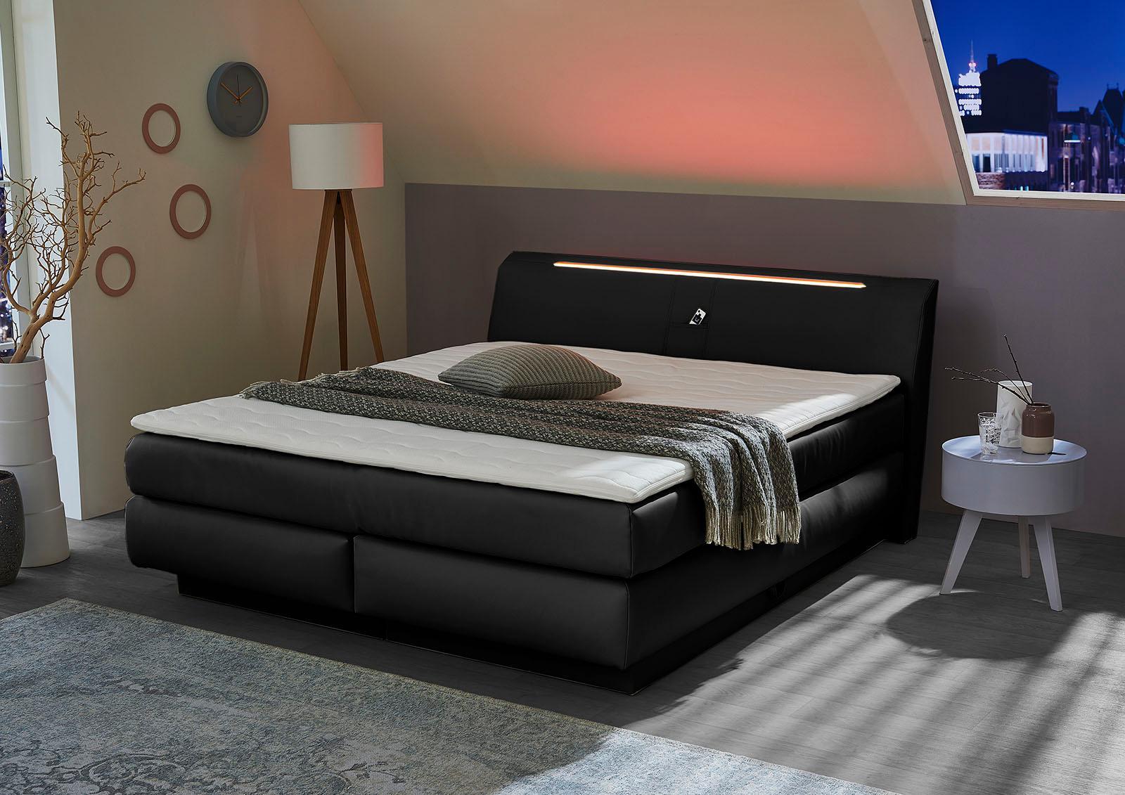Angebot neue Stile attraktive Farbe Jockenhöfer Gruppe Boxspringbett mit Bettkasten, RGB-Beleuchtung und Topper  kaufen | BAUR