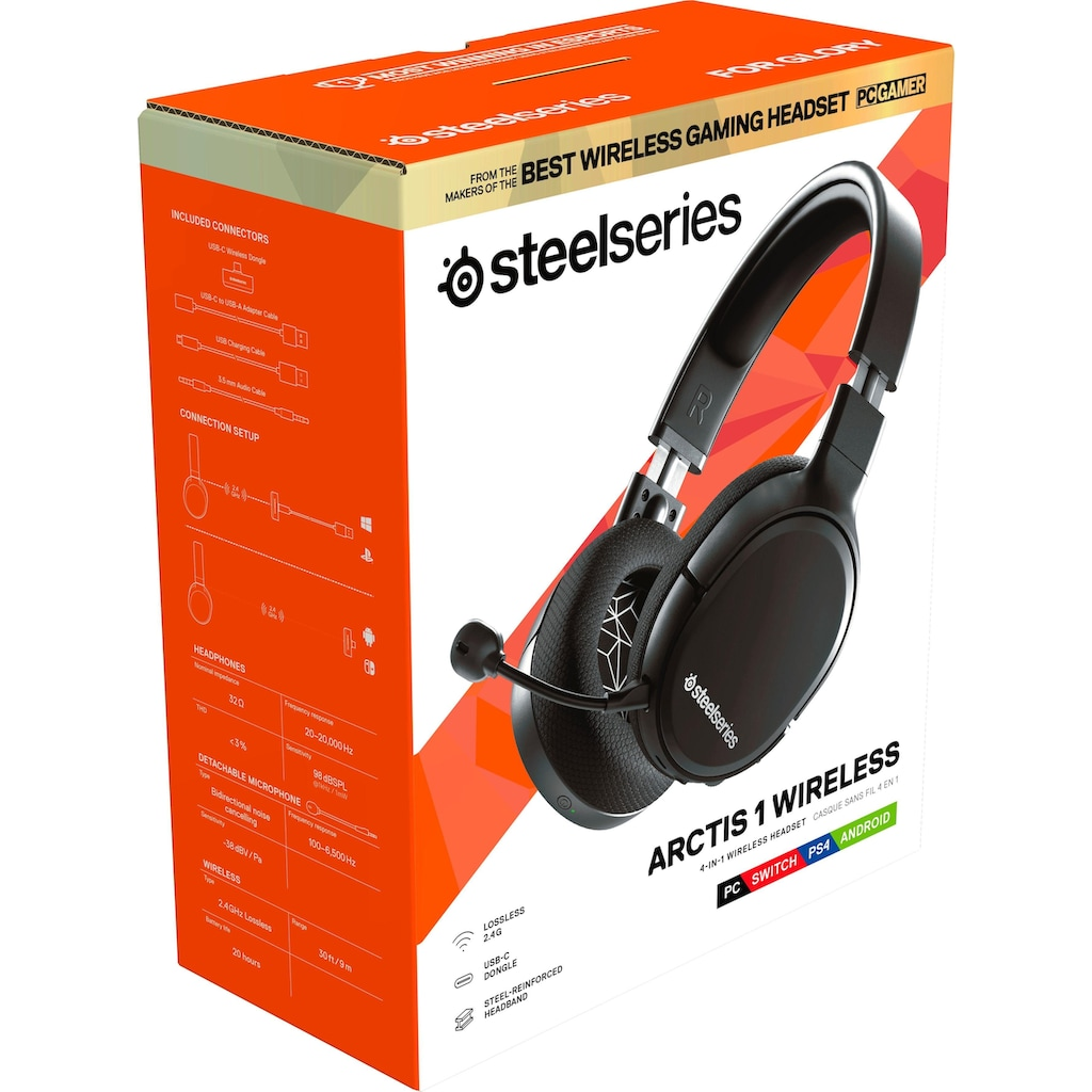 SteelSeries Gaming-Headset »Arctis 1 Wireless«, WLAN (WiFi)