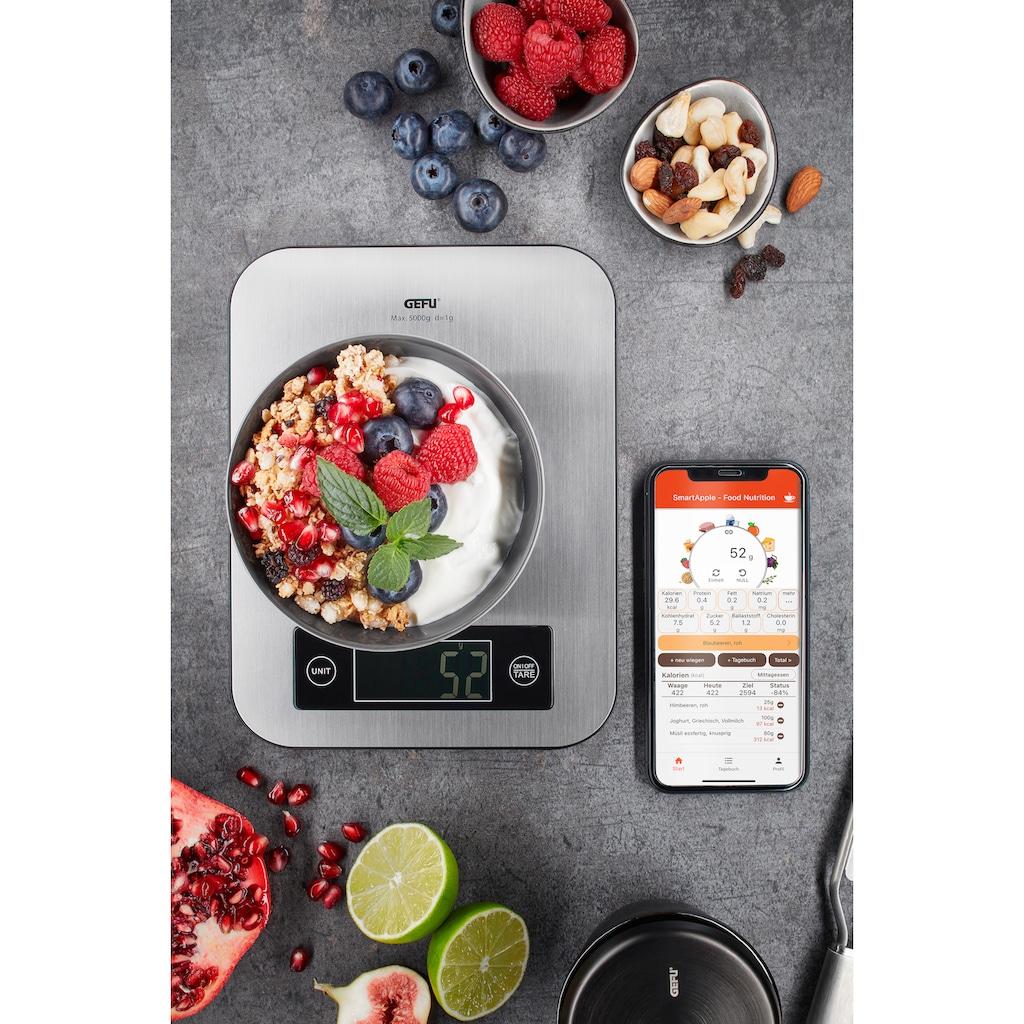 GEFU Küchenwaage »SCORE«, Bluetooth Funktion mit Datenübertragung in Echtzeit auf das Handy