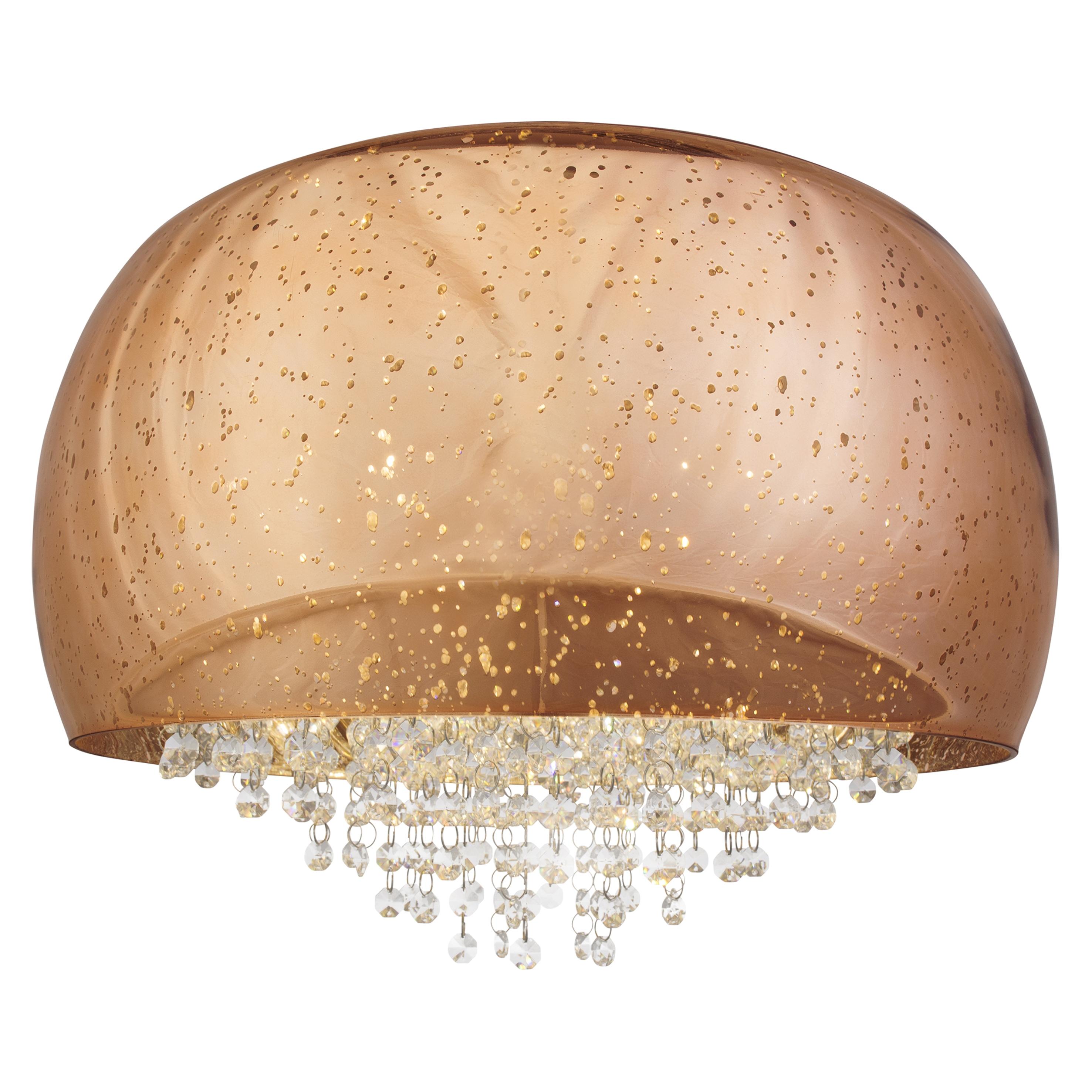 Brilliant Leuchten Brilliance Deckenleuchte 50cm kupfer/chrom