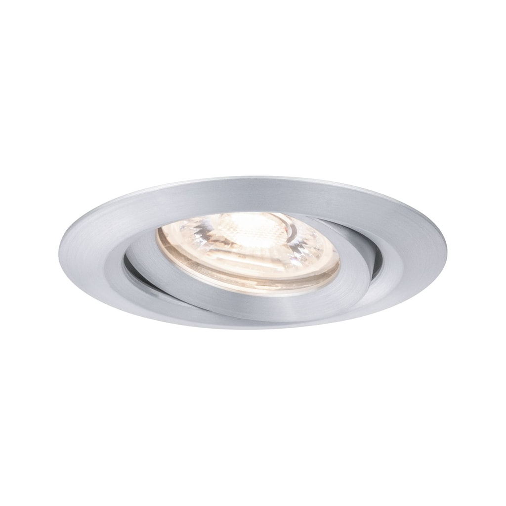 Paulmann LED Einbaustrahler »Nova mini Plus schwenkbar EasyDim 1x4,2W 2.700K Alu 230V«, 1 St., Warmweiß