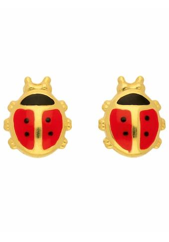 Adelia´s Paar Ohrstecker »585 Gold Ohrringe / Ohrstecker Marienkäfer«, Goldschmuck für... kaufen