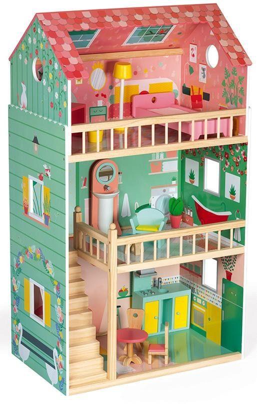 """Janod Puppenhaus """"Maxi Happy Day"""" Technik & Freizeit/Spielzeug/Puppen/Puppenhaus"""