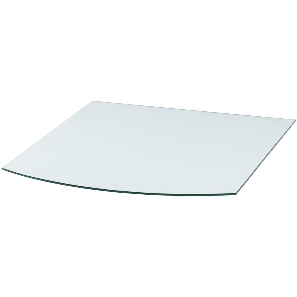 Heathus Bodenschutzplatte, Segmentbogen, 80 x 100 cm, transparent, zum Funkenschutz