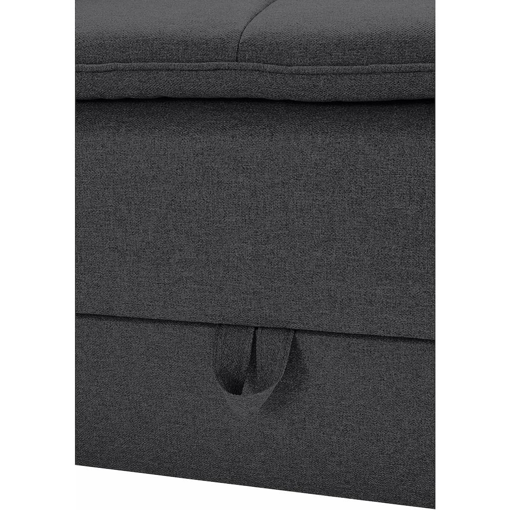 INOSIGN Ecksofa, mit Bettfunktion 180 cm, Dauerschlafgeeignet