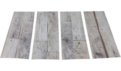 MYSPOTTI Duscheinlage »Klebefliese stepon Wood Planks«, Set 4 - teilig, Antirutsch - Aufkleber, BxH: 30 x 10 cm kaufen
