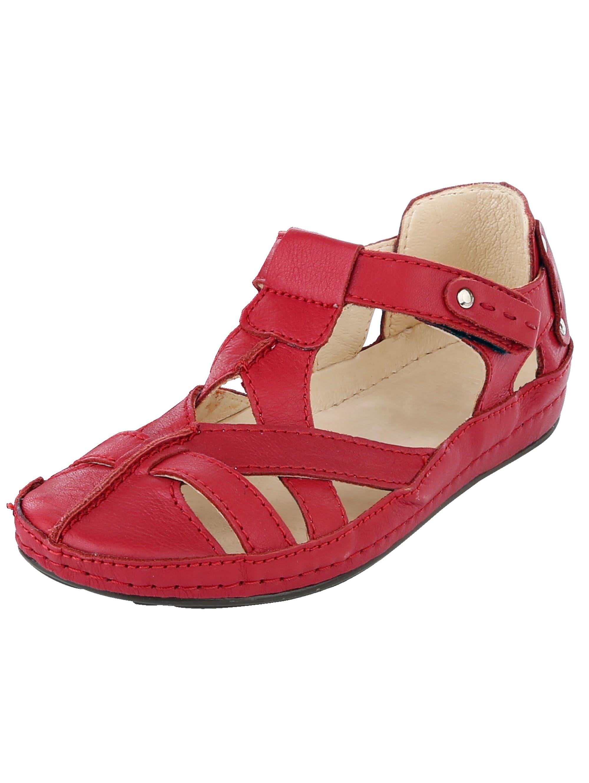 Naturläufer Klettslipper rot Damen Slipper Loafer Business-Schuhe für Sie Slipper/ Halbschuhe