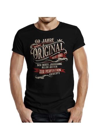 Rahmenlos T-Shirt »60. Geburtstag: Perfektion seit 1961«, mit originellem Frontprint kaufen