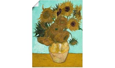 Artland Wandbild »Vase mit Sonnenblumen. 1888« kaufen