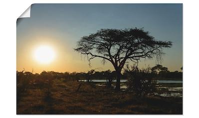 Artland Wandbild »Sonnenuntergang I«, Afrika, (1 St.), in vielen Größen & Produktarten... kaufen