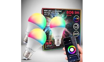 B.K.Licht LED-Leuchtmittel, E27, 2 St., Warmweiß, Smart Home LED-Lampe RGB WiFi App-Steuerung dimmbar CCT Glühbirne 9W 806 Lumen kaufen
