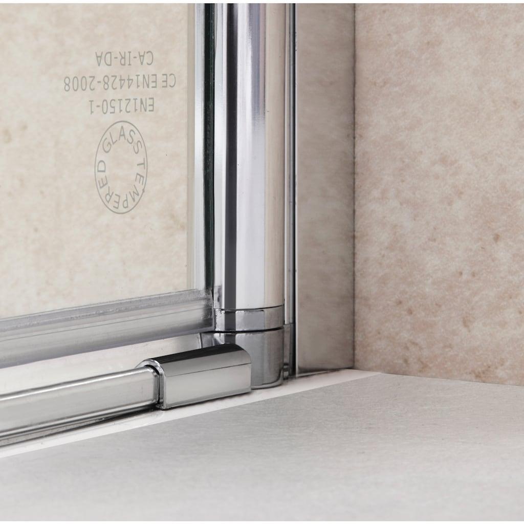 welltime Eckdusche »Florenz«, mit Hebe-Senk-Mechanismus, barrierefrei einbaubar, höhenverstellbar