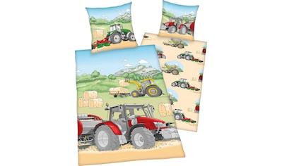 """Herding Young Collection Kinderbettwäsche »Traktor«, mit tollem """"Traktor"""" Motiv kaufen"""