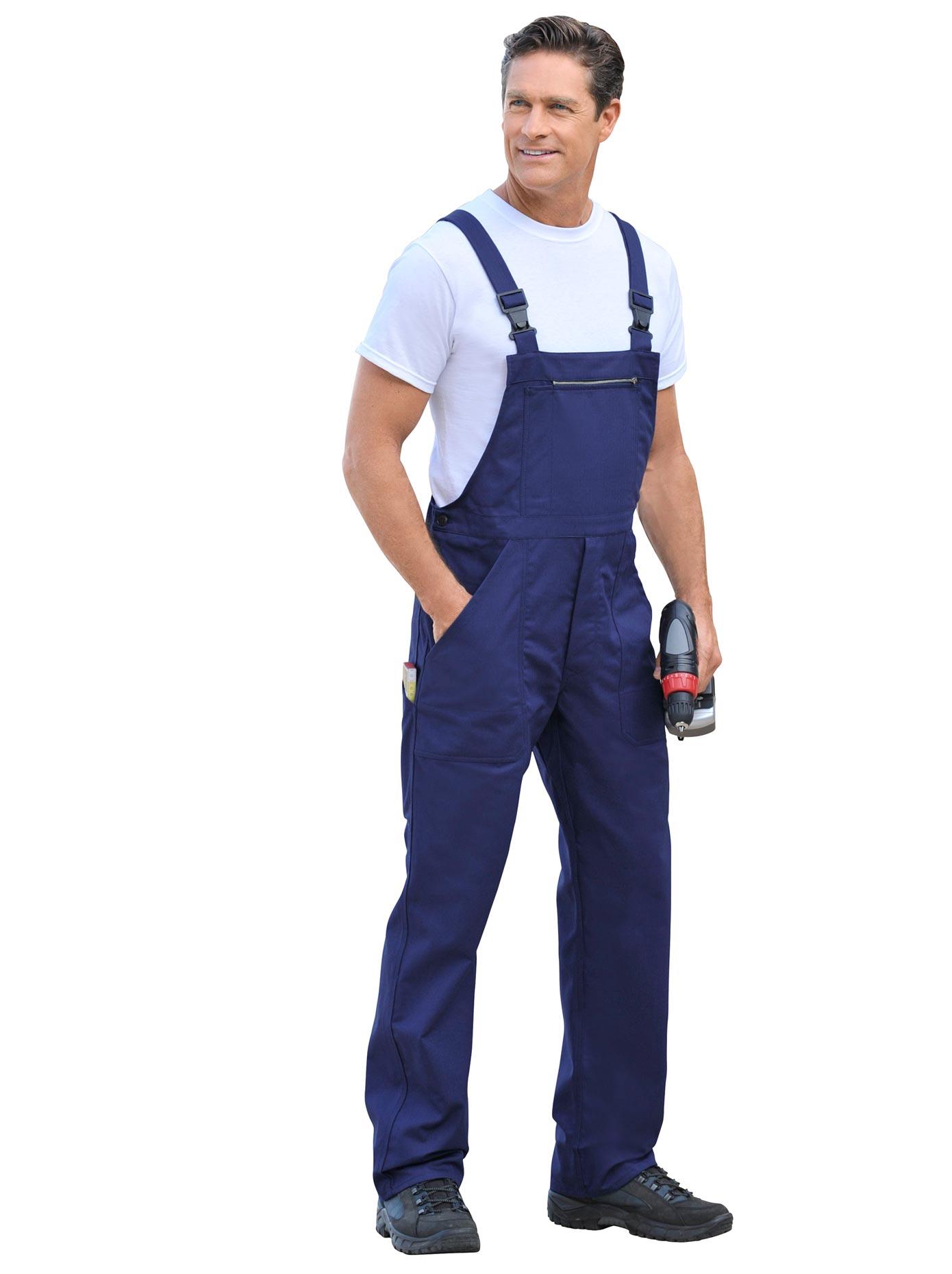 Classic Uvex Latzhose aus reiner Baumwolle blau Herren Latzhosen Arbeitshosen Arbeits- Berufsbekleidung Hosen, sonstige