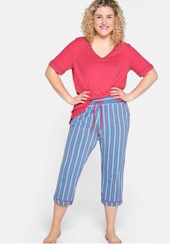 Sheego Pyjamahose, mit Taschen, in 3/4-Länge kaufen
