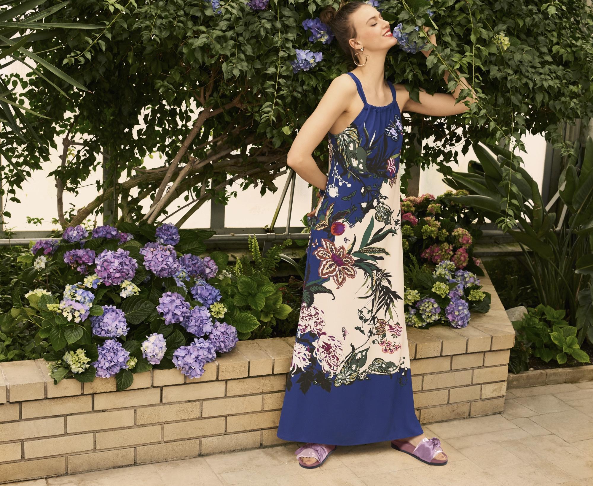 heine STYLE Kleid mit Blumendruck