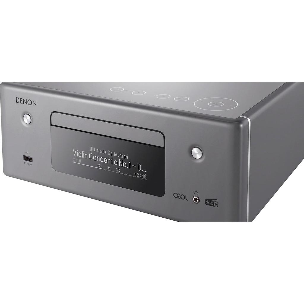 Denon Audio-Receiver »RCD-N11DAB«, (Bluetooth-LAN (Ethernet)-WLAN DAB+-Internetradio-Sprachsteuerung-Sleeptimer)