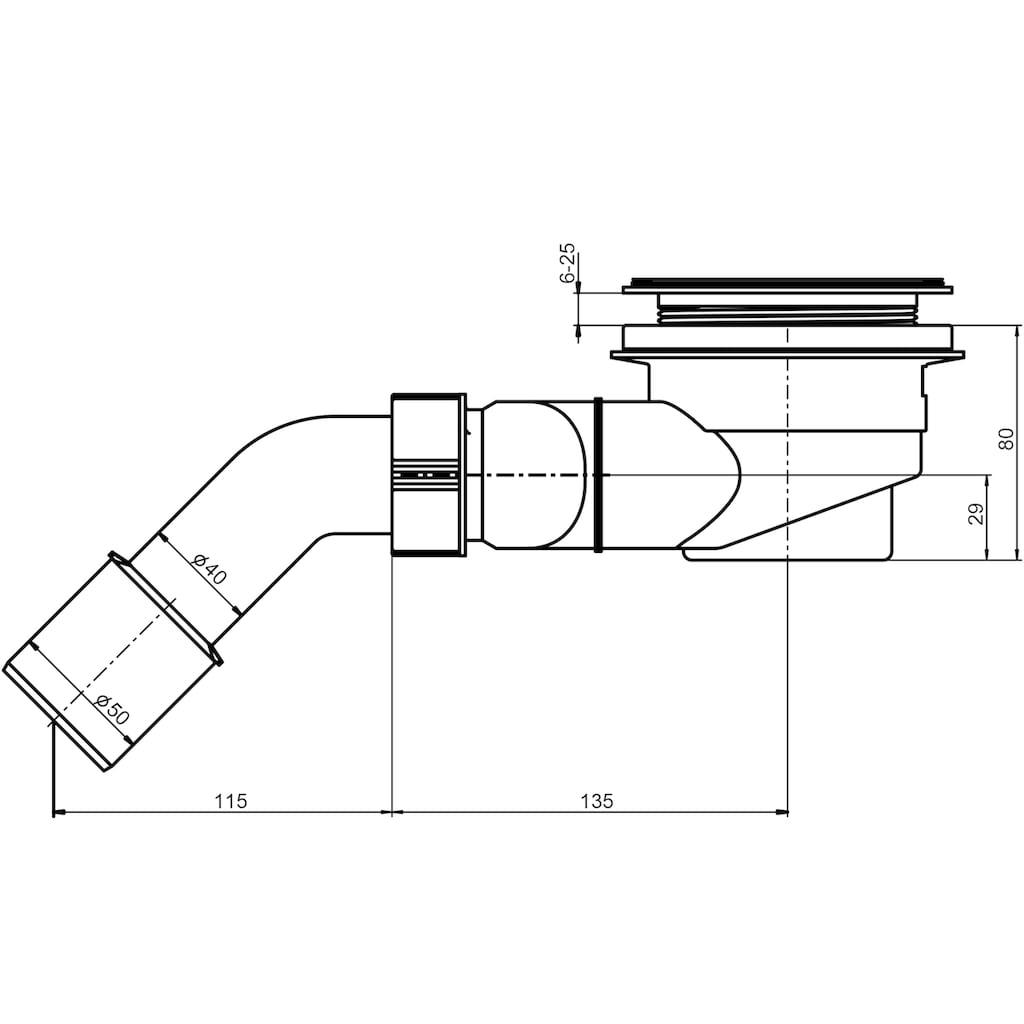 OTTOFOND Duschwanne »Set Rechteckduschwanne«, 1400x800/30 mm