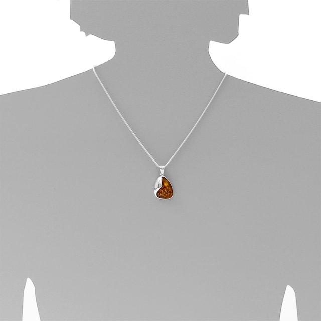 BAILYSBEADS designer schwarz Fossil Achat Kette Halskette mit Bernstein 342