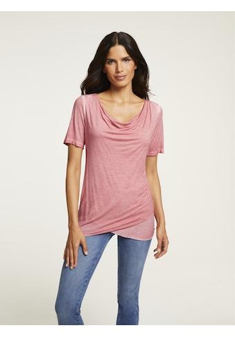 Shirt mit Wasserfall - Ausschnitt kaufen