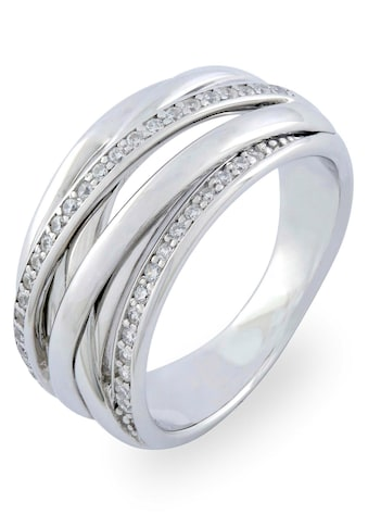 VILMAS Silberring »Double Stone, 4028146361928, 35, 42«, mit Zirkonia kaufen