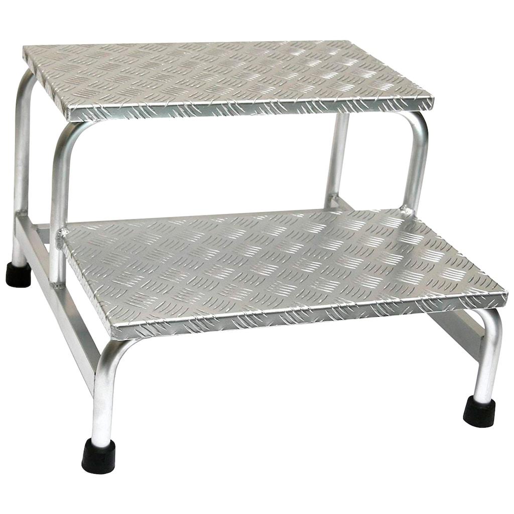 SZ METALL Trittleiter, Aluminium, 2-stufig
