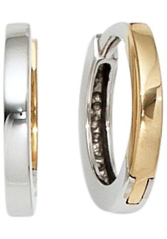 JOBO Paar Creolen, rund 333 Gold bicolor kaufen