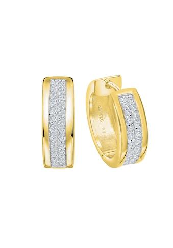 Vivance Klappcreolen »Creolen 925 Silber vergoldet Zirkonia«, Oberfläche: Glänzend kaufen