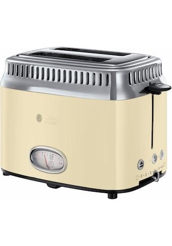 RUSSELL HOBBS Toaster »21682-56«, 2 kurze Schlitze, 1300 W, Retro Vintage Cream kaufen