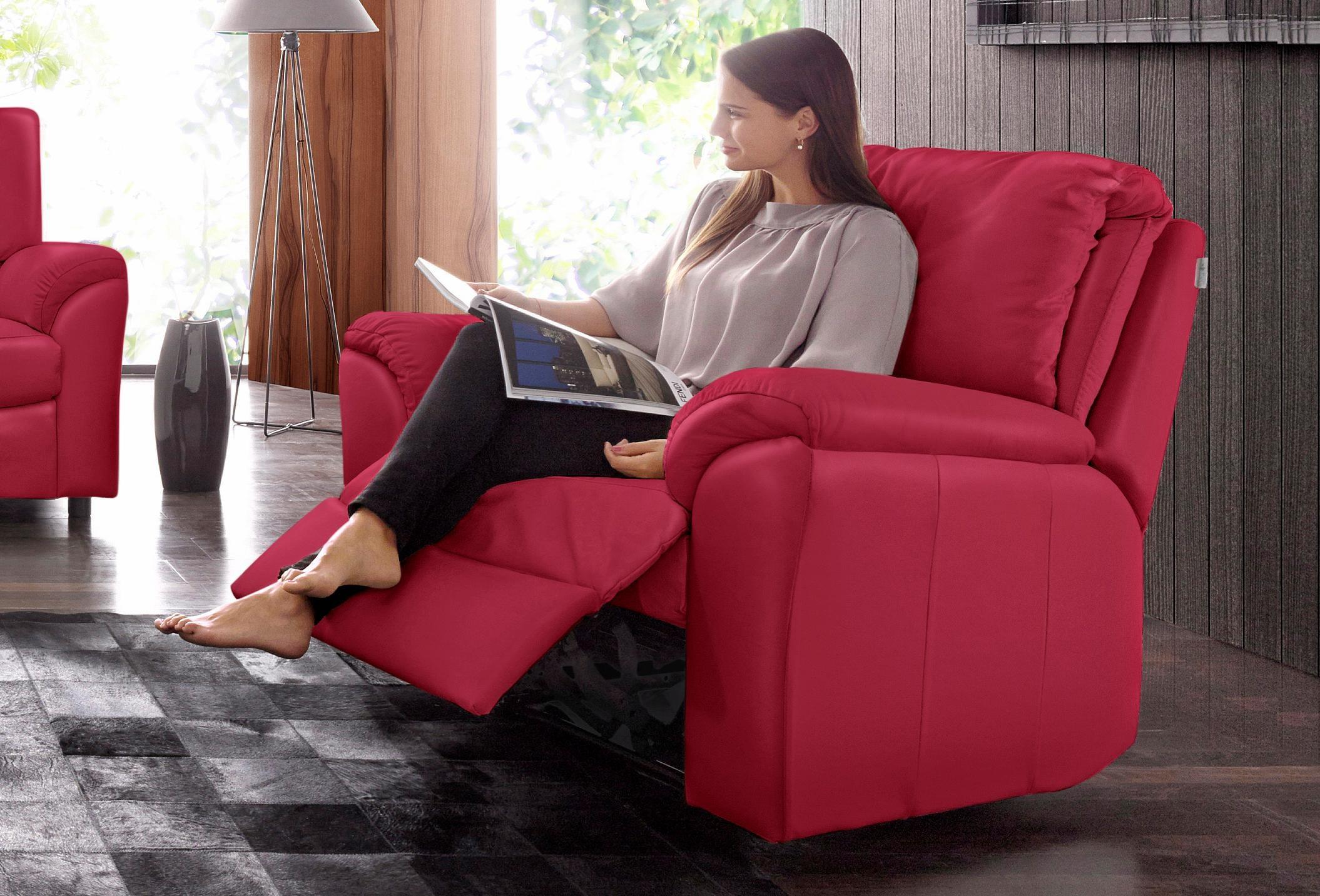 CALIA ITALIA Relaxsessel CS Mark, mit manueller Einstellung rot Sessel