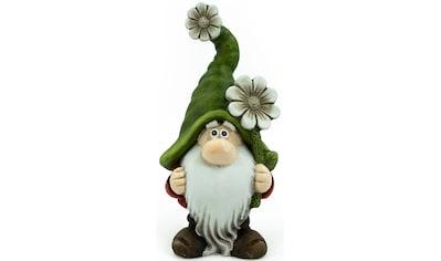 NOOR LIVING Gartenfigur »Zwerg M mit Blume« kaufen