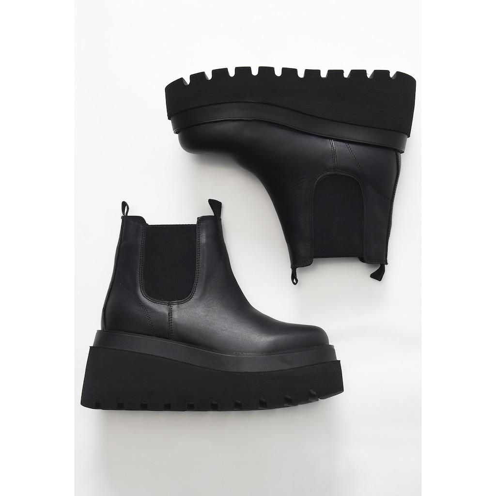 INUOVO Stiefelette »Leder/Textil«