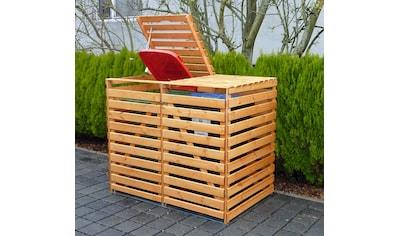 promadino Mülltonnenbox »Vario V«, für 2 x 240 l, braun kaufen