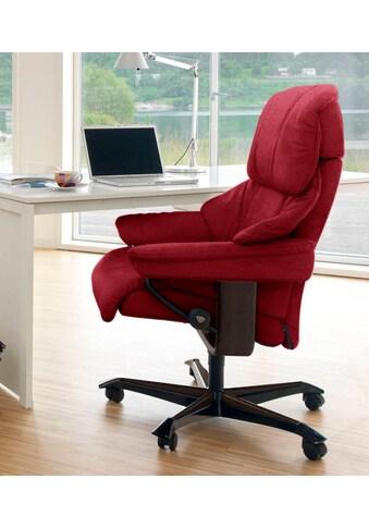 Stressless® Relaxsessel »Reno«, mit Home Office Base, Größe M, Gestell Braun kaufen