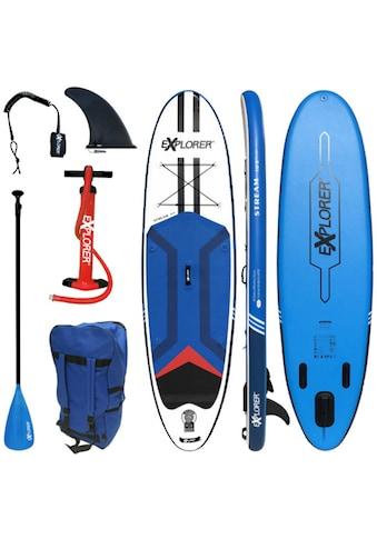 EXPLORER Inflatable SUP-Board »Stream 10.2«, (6 tlg., mit Paddel, Pumpe und... kaufen